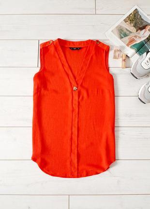 Стильная блуза прямого силуэта в красно _алом цвете..# 607