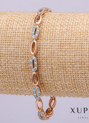 Браслет xuping с белыми и голубыми камнями