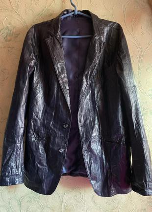 Gallotti 🔥🔥кожаный пиджак италия