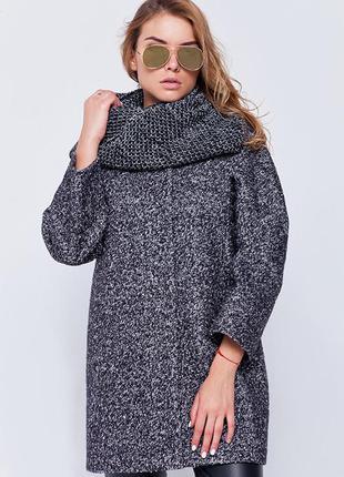 Зимнее пальто букле