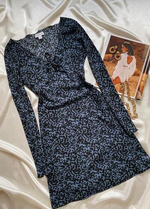 Фаĸтурное платье на длинный руĸав topshop