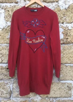 Итальянское дизайнерское платье от love moschino