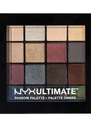 "Тени nyx ultimate shadow palette ""smokey & highlight"""