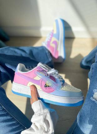 Air force 1 reactive colour changing кожаные кроссовки кросовки кросівки