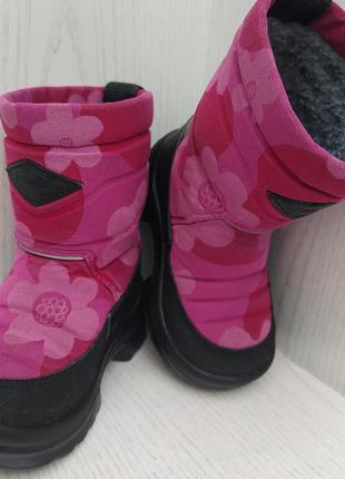 Ботинки ,сапожки детские зимние для девочки 23р. kuoma(куома)финляндия