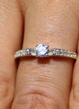 Кольцо серебро 925 проба 17.5 размер