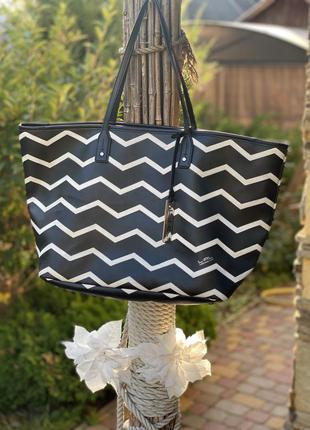 Женская большая сумка шоппер для пляжа lauren ralph lauren