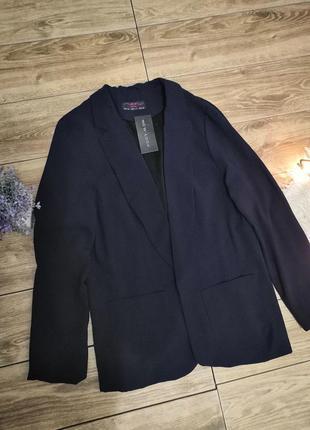 Тёмно-синий пиджак от new look
