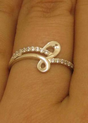 Кольцо серебро 925 проба 18.5 размер