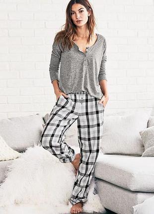 Легкие штаны для дома и сна в клетку victoria's secret