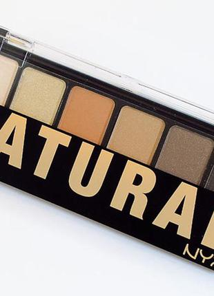 Тени nyx the natural shadow palette
