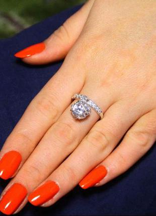 Кольцо серебро 925 проба 17.5 размер.