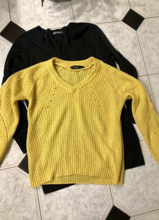 Вязаный желтый свитер оверсайз  vero moda 🍁