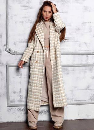 Пальто с поясом, свободного кроя 😍