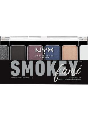 Тени nyx the smokey shadow palette