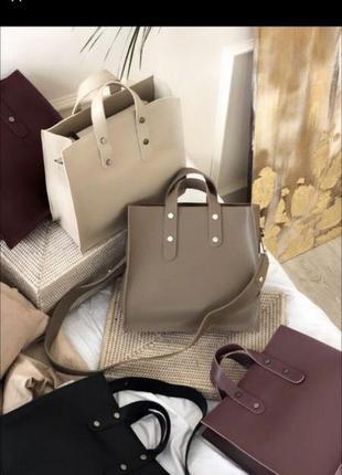 Женская сумка/шоппер цвета мокко lemanroom