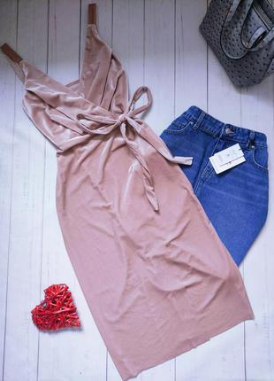 Бархатное, велюровое пудровое платье, велюр, италия.