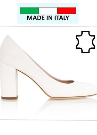Италия белоснежные туфли натуральная кожа