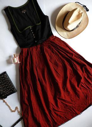 Berwin & wolff котонова сукня у вінтажному стилі клітинка глибоке декольте