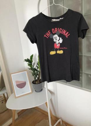 Мультяшная футболка с микки маусом h&m
