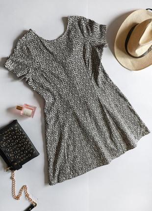Marks & spencer тепла осіння котонова сукня принт леопард