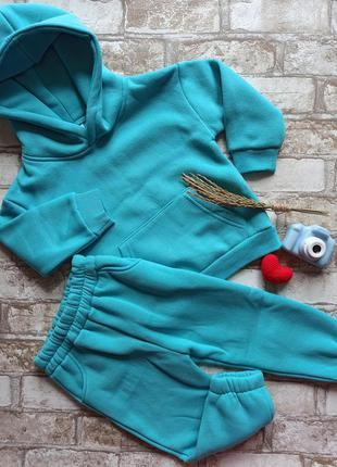 Теплый костюм на флисе, на рост от 80 до 142см