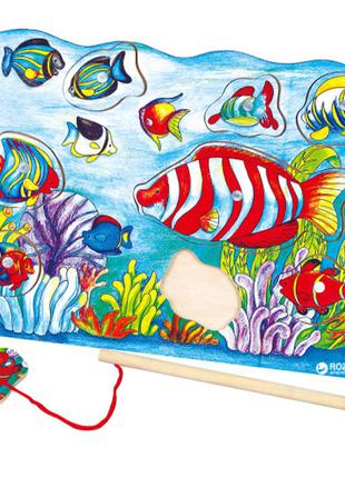 Пазл магнитный viga toys рыбалка (58423) (6934510584238)