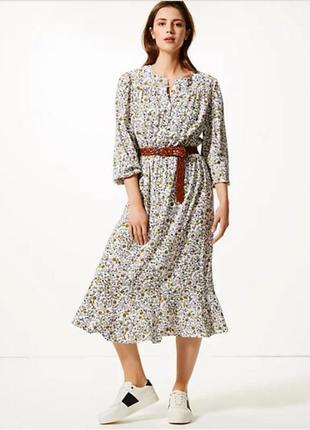 Шикарное натуральное миди платье из новых коллекций