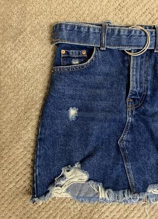 Качественная джинсовая юбка bershka