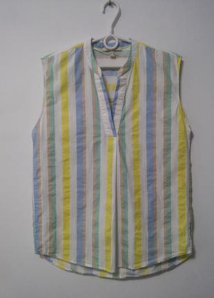 Яркий котоновый топ блузка esprit