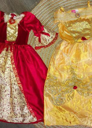 Платье принцесса бель(красавица и чудовище) 5-8лет.