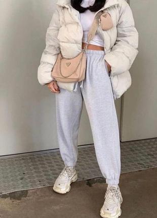 Спортивные штаны джогеры тёплые