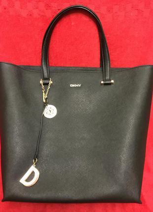 Шикарная брендовая сумка из натуральной кожи dkny