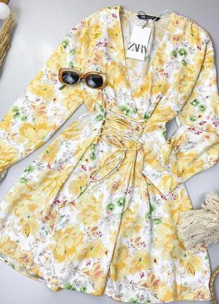 Шикарное платье zara, корсет