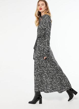 Натуральное макси платье рубашка с жлинным рукавом