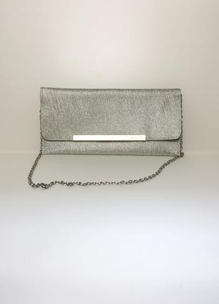Срібна сумка клатч menbur