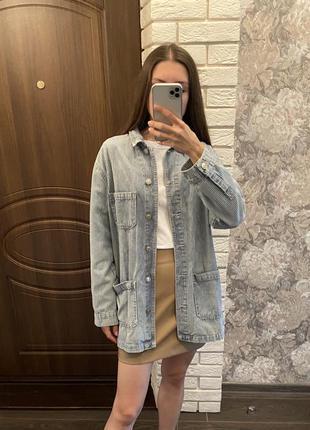 Джинсовая куртка джинсовая pull&bear