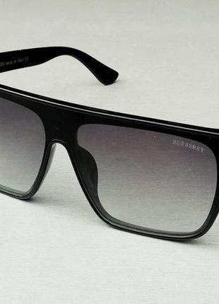Burberry очки маска унисекс солнцезащитные темно серый градиент