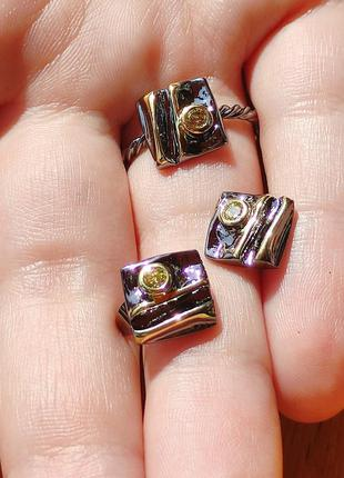 Комплект серьги+кольцо.