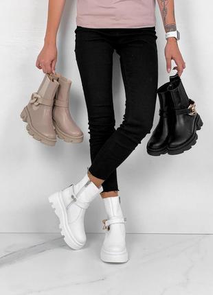 Ботинки натуральная кожа на платформе