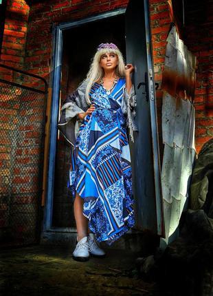 Сарафан из вискозы модал на запах в принт next beachwear пляжное платье полоска