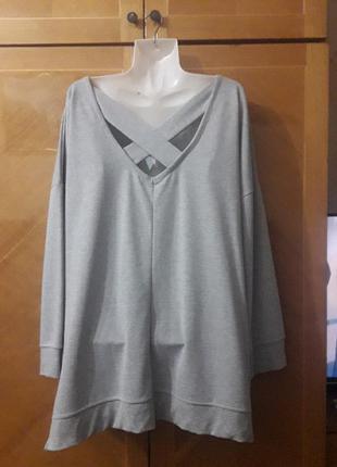 Брендовый  новый  оригинальный свитер  свитшот  с интересной спинкой р.22 от george