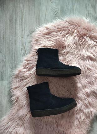 Зимние черные замшевые ботинки clarks uk 6 1/2 eur 40
