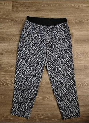 Наш 52/54 батал большой размер шикарные стильные легкие штаны штаники брюки