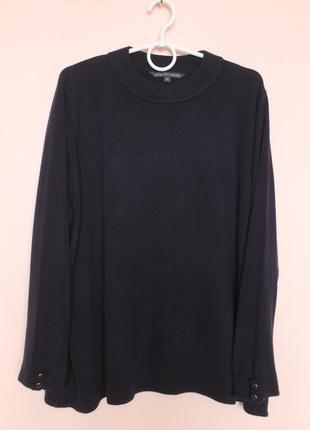 Тёмно синяя кофточка, кофта, свитер, свитерок, светр батал 60-62 р.