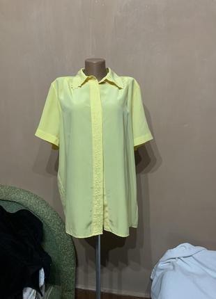 Блуза сорочка рубашка желтая