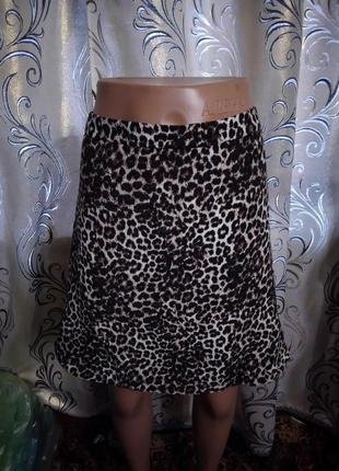 Стильная юбка с леопардовым принтом george