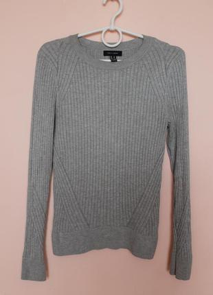 Серая натуральная кофточка, кофта, свитер, свитерок, светр 46-48 р.