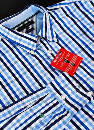 Шикарная брендовая качественная рубашка tommy hilfiger коттон этикетка