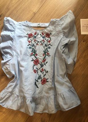 Топик женский коттон блузка вышиванка